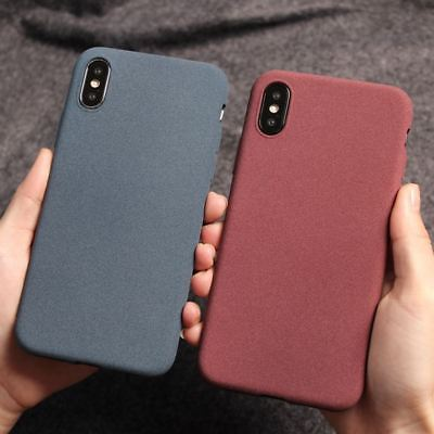 For iPhone XS Max XR X 8 7 6 5 Slim Matte Soft Silicone Case Rubber Plush Cover