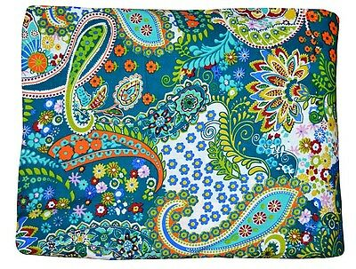 10 Yard Indian Paisley Hand Printed Cotton Fabric Dressmaking Sewing Fabric