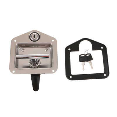 Stainless Steel RV Trailer Car Paddle Handle Truck Toolbox Lock Latch Key
