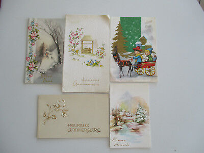 Cartes Postales Evenements Lot De 5