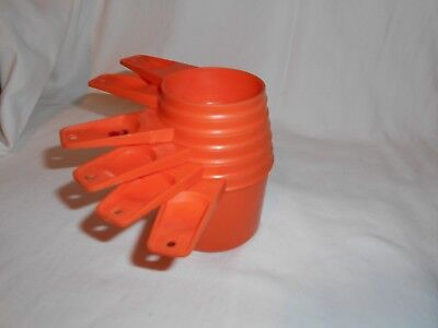 Vintage 6 Tupperware Nesting Measuring Cups 1/4, 1/3, 1/2, 2/3, 3/4 & 1 Cup