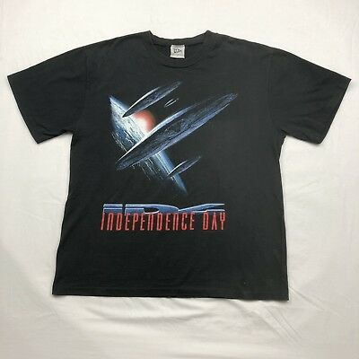 Vintage Independence Day ID4 Movie Graphic Tshirt 90's Size Large EUC