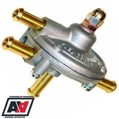 Malpassi Turbo Fuel Pressure Regulator For Carburettors 8mm Hose Tails ADV