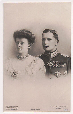Vintage Postcard Duchess Sophia Charlotte of Oldenburg & Prince Eitel Friedrich