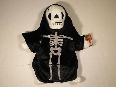 TY Beanie Babies Creepers Skeleton Halloween (2000) Plush w/All tags Excellent