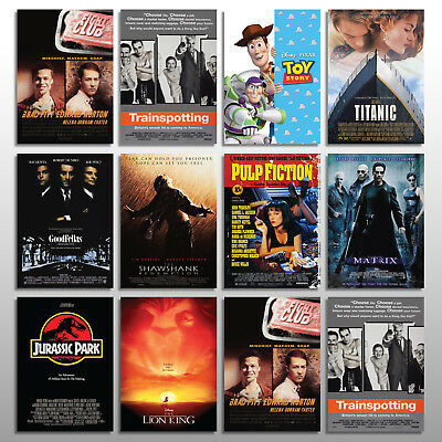 CLASSIC MOVIE POSTERS - Highest Quality prints A3 A4 Size Design Cinema Art