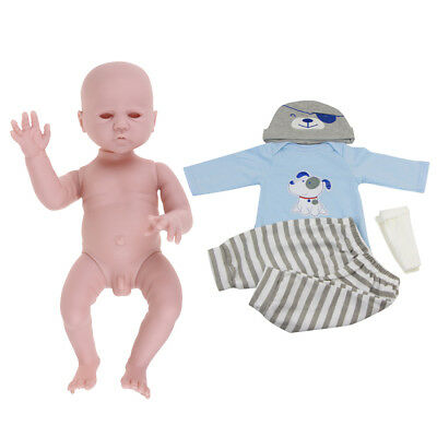 Reborn Unpainted Baby Moulds & Costume Set For Newborn Baby Boy Doll 20inch