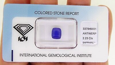 IGI certified Untreated Blue Sapphire Burma 2.23ct Natural Loose Gemstones.