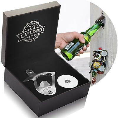 Caplord Wall Mounted Bottle Opener Magnetic Cap Catcher Stainless Steel Gift AU