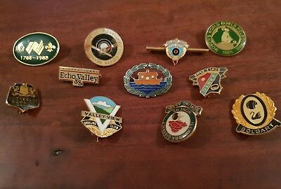 Badges x 10 bowling & other