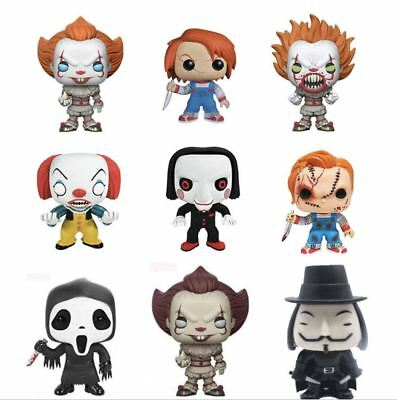Funko - POP Horror IT Pennywise Chucky SAW Billy Scream Ghostface V for Vendetta