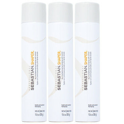 "Sebastian Shaper Hold and Control Hairspray 10.6oz ""Pack of 3""w/Free Nail File"
