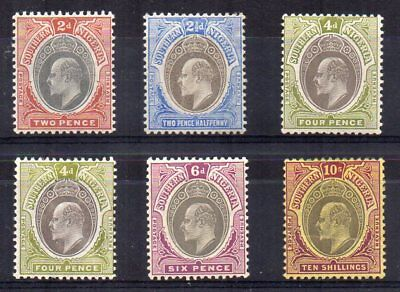 Southern Nigeria 1904-09 KED VII Values to 10s Mint Sg Between 23 & 31 Cat £258