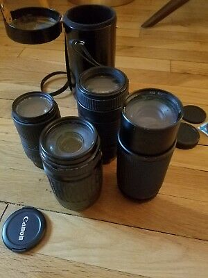 Lot Of Camera Lenses Canon Sigma