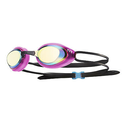TYR Blackhawk FINA Approved Womens Mirrored Racing Swimming Goggles Pink Black