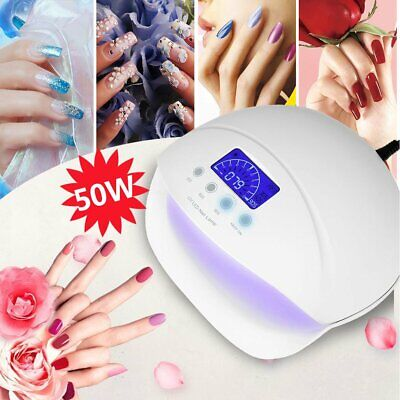 50W SUNUV LED UV Nail Lamp Double Hands Light Gel Polish Cure Nail Dryer 4Timers