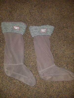 Hunter boot inserts Gray. Sz. ML (7-9)