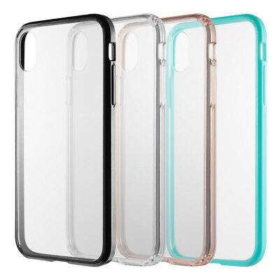 Clear Phone Case For Apple iPhone XR XS Max Hybrid Rubber Silicone Bumper Cover