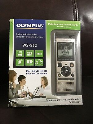 Olympus Digital Voice Recorder WS-852, Silver Meeting/Conference 4GB MP3