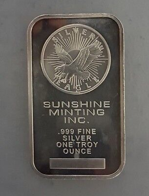 Sunshine Minting Inc 1 Troy oz .999 Fine Silver Art Bar