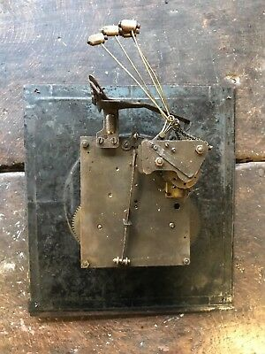Antique Junghans Long Case Clock Movement with Face & Hands for Restoration
