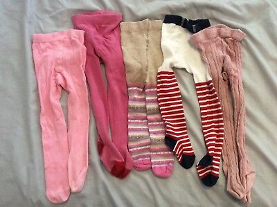 Girls 6-12 Months Tights Bundle M&S TU Early Days