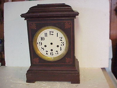 Vintage Mahogany Chime Bracket Clock Case parts repair K