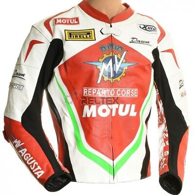 MV Agusta WSB Italia Special Edition Sports Motorcycle CE Leather Biker Jacket