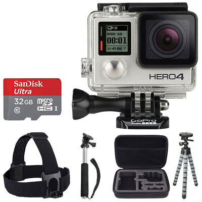 GoPro HERO4 Silver Action Camera/Camcorder+Waterproof Housing+ Value Accessories