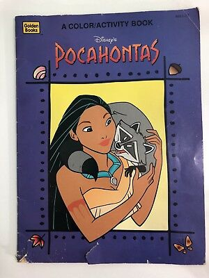 1995 Golden Book Coloring And Activity Book Disney's Pocahontas No Writing