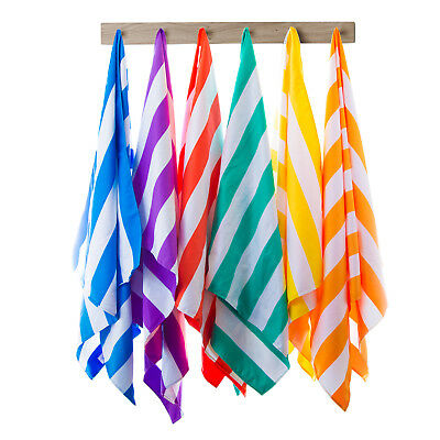 Microfibre Towel Travel Towel Quick Dry Compact Lightweight Striped Beach Towel
