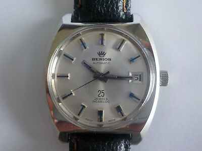 BERIOS VINTAGE AUTOMATIC WATCH 25 jewels Swiss Made NOS NEW