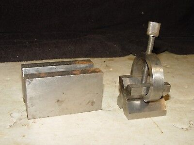 2 Vintage Machinist Toolmaker Workholding Set Up V Block Blocks Tools # 7