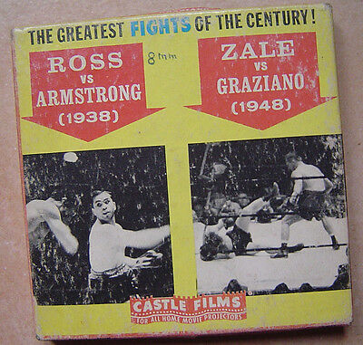 Boxe - Boxing Ross /armstrong 1938  Zale /graziano 1948 Super 8 Mm Castle Films