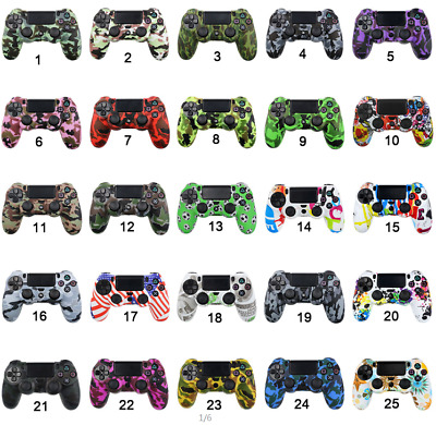 PS4 Patterned Silicone Controller Cover 32 Styles Protective Skin Case From U.K