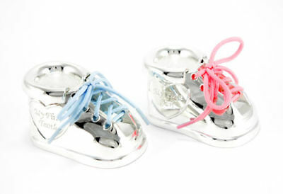 Tooth Box Curl Box Silver Shoe Trainers Young Girl Christening Engraving Gift