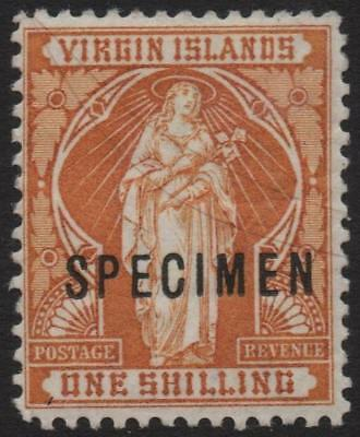 BR.VIRGIN ISLANDS: 1899 Sg 49s 1/- Brown-Yellow L.Mounted Mint Spec Ovpt (19193)