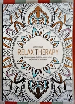 Relax Therapy Adult Colouring Book, 120 pages relaxing, creative, artistic fun