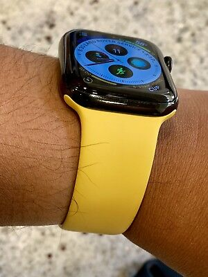 Yellow MM992AM/A Apple Watch Sport Band 42mm 44mm Rare - M/L Only - Genuine