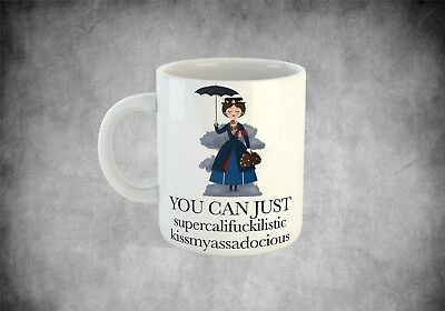 Mary Poppins funny coffee cup mug mothers day gift birthday present for her him