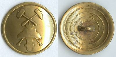Knopf Bergbau Kaiserreich um 1880 Uniform button bottone 24mm gelb RAR!