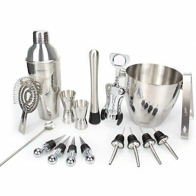 Nosiva Bar Set 17 Pieces Bartender Kit Cocktail Bar Set Stainless Steel