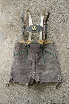 Lederhosen German authentic leather shorts with suspenders childrens