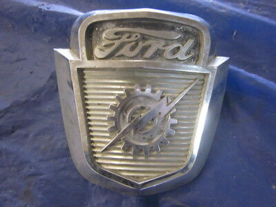 Original Ford F Series F-100 Truck Hood Emblem Badge Ornament 1952 - 1956