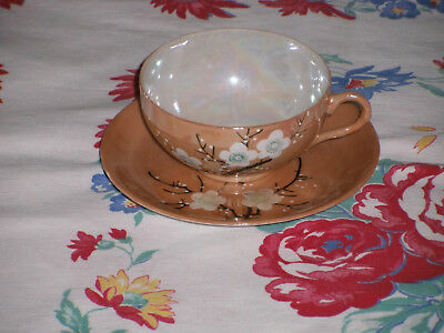 Vintage KB Japanese hand painted China tea cup & saucer EUC + extra cup