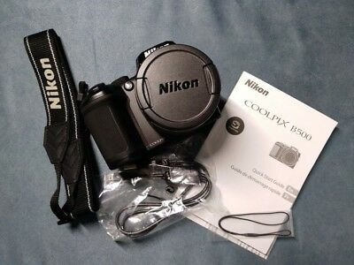 Nikon COOLPIX B500 16.0MP Digital Camera Black *Brand-new*