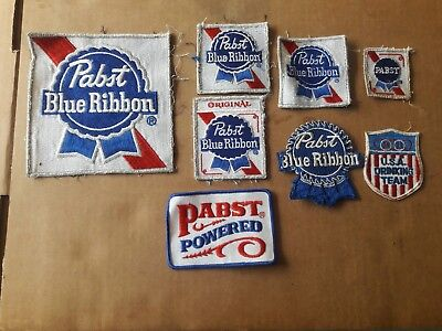 8 Pabst Blue Ribbon Patches