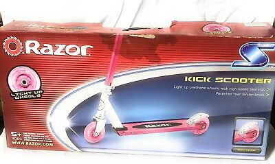 Razor Spark Kick Scooter With Light Up Wheels Red 845423015565
