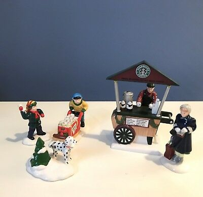 Starbucks Coffee Cart, Early Morning Delivery - Dept 56 accessories