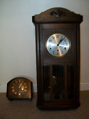 Antique D R G M German wall clock and Vintage Smiths Enfield clock